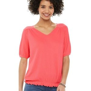 4/$20⭐️Coral Waffle Knit Tee